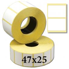 Термотрансферные этикетки 47х25