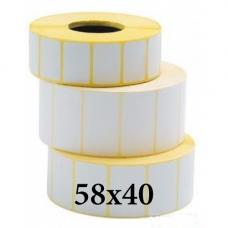 Термотрансферные этикетки 58x40
