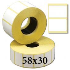 Термоэтикетки 58х30
