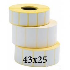 Термотрансферные этикетки 43х25
