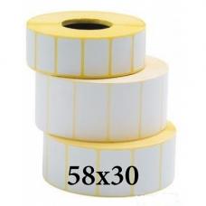 Термотрансферные этикетки 58x30
